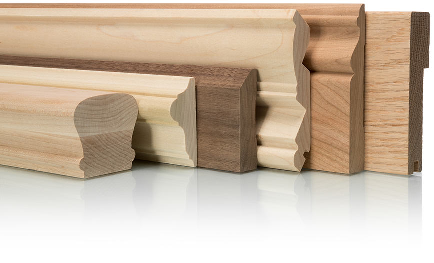 Moulures de bois franc cadrage et plinthes moulures for Moulures en bois decoratives